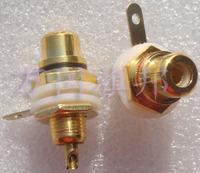 thread diameter 7.8mm Gold-plated RCA jack audio Cinch lotus socket AV socket Signal plug