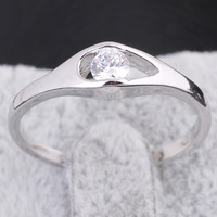 Fashion Platinum Plated CZ  Ring Mix $10 Free Shipping
