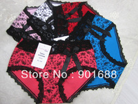 2014 new cotton in stock  women big size high quality lady panties High waist briefs underwear