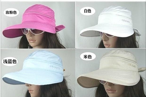 Hot-selling golf ball hat Women big along the cap sunbonnet woman sports hat(China (Mainland))