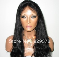 Fashion black women unprocessed brazilian virgin hair glueless full lace wig  with bangs natural hairline