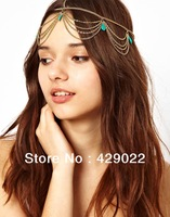 2014 New Fashion   Bohemian ethnic style bridal jewelry Hair Jewelry Wholesale Cheap