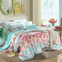 High-grade home textile! 100% tencel bed set combed deluxe 4pcs bedding set, duvet cover, bed sheet ,pillowcase Fast Shipping