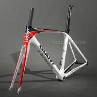 2013 GIANT TCR Composite T-600 Carbon Original 700C Road Bike Bicycle Parts Fork Frame Set Size M 500mm White/Red/Black