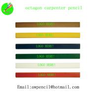 Customized  octagon carpenter wood pencil with logo