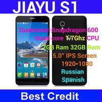 In stock Original Jiayu S1 3G Smartphone Qualcomm Snapdragon 600 Quad Core 1.7GHz 1920x1080 13.0MP 2GB 32GB GPS Bluetooth/Oliver