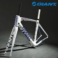 2014 GIANT TCR Composite T-600 Carbon Original 700C Road Bike Bicycle Parts Fork Frame Set Size M 500mm White