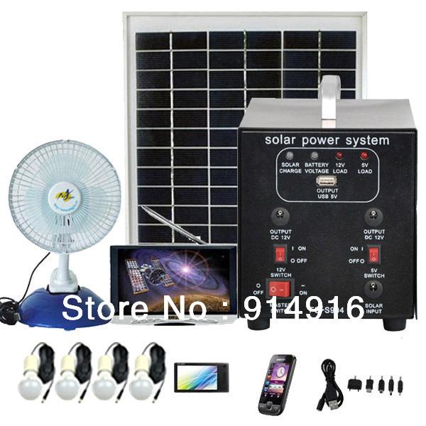 Portable Solar Power Generator 25W Solar Power System With Solar Panels(China (Mainland))