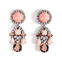 NEW earrings 2014 Famous design luxury water drop crystal flower fashion women big earrings vintage statement earrings jewelry