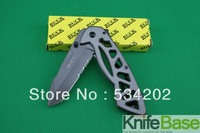 BUCK folding knife 870 skeleton clasp 4Cr13MoV 55HRC Plating Titanium Blade Keel Steel Handle 5pcs/lot free shipping