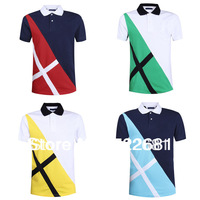 Best Sale Free Shipping 2014 New 4size 4colors Camisas  For Men Brand T Shirts Men's Clothing Summer Tops