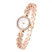 Luxury King Girl A-9084 Women Bracelet Watches Rose Gold Crystal Hours Rhinestone Watch Round Analog Alloy Dress watches