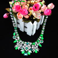 2014 jewelry designs shourouk necklaces crystal jewelry choker vintage green braid statement necklaces pendants