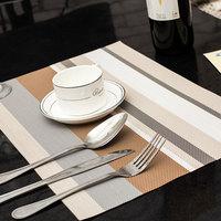 Pvc placemat coasters bowl pad disc pads table mat  table pad placemat pvc square color stripe  elegent doily