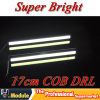 High Power New Daylight 12W 17CM COB Car LED DRL 100% Waterproof Bumper Decorative Sticker Daytime Running Light Led  #LM34