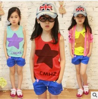 2014 Kids Baby Girl Vest Tshirt Sweet Cotton O Vest Baby Free Shipping