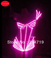 Handmade Led underwear luminous costume stage dj sexy clothes party lighting led clothing