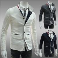 2014 Spring New England men blazer wild Plus Size men's jacket collar jackets Men blazers clothing hot-selling
