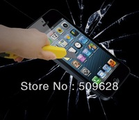 Wholesale 2pcs/lot 0.26MM high quality premium tempered glass screen protector guard cover for iphone 4 4s 5 5s Free shipping