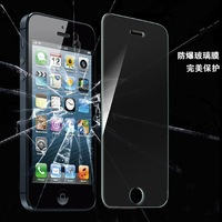 new For iPhone 5 Premium 0.3mm Tempered Glass Screen Protector for iPhone 5s 5c Toughened protective film With Retail Package