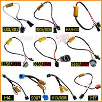 880 881 9005 9006 9007 H4 H7 H8 H11 H13 1156 1157 3156 3157 7440 7443 No Error Load Resistor No Flickering Decoder for LED Light