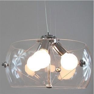 Modern fashion drum glass pendant light fish tank restaurant lamp living room lights E27 AC110v/220v D40cm(China (Mainland))