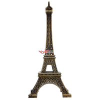 New 15cm Home Decoration Eiffel Tower Metallic Model Bronze Color Iron Romantic Free Shipping
