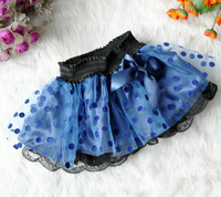 2014 new arrival polka dot skirts, yarn layered skirt,girls short skirt ,4pcs/lot,free shipping