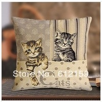 2014 European Design  two cats decorative 45*45cm  Multi-fonction bolster cover cushion covers for sofa