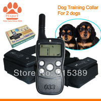 10PCS/LOT DHL Free Shipping Wholesale 2014 New Rechargeable 300M Training Collar for 2 dogs  033B-10