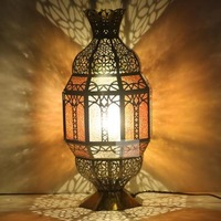 Moroccan bedroom study room copper table lamp for decoration T1109-1