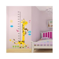 1.8m Tall Giraffe Growth Charts Height Measurement Adesivo Wall Stickers For Kids Bedrooms Papel de Parede Infantil