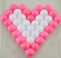 Latex balloons 40pcs multicolor ball balloons +heart-shaped grid+inflator for Wedding Supplies