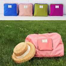 1PCS Free Shipping Poly Foldable Shopping Bag Street fashion Shopper Bags multifunctional shoulder bag 4 Colors(China (Mainland))