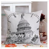 2014 High quality European building  45*45cm  Multi-function pillow cushion cover