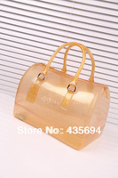 2014 New RT candy handbag,Silver Dots bag, pure candy color bags for women,hot designers purse jelly tote,lady pvc bag,free ship
