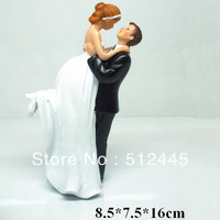 """Love Swept"" Bride & Groom Wedding Cake Topper wedding couple figurine"