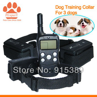 6PCS/LOT Free Shipping by DHL  2014 New Rechargeable  Training Collar for 3 dogs  033C-6