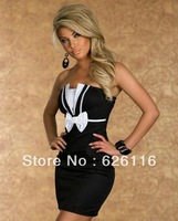 2014 strapless dress fashion sexy backless cultivate one's morality