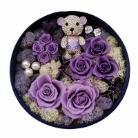 Bear rose flower hua he preserved fresh flower gift box hua he rose