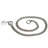 Large dog pet chukchi titanium alloy serpiform p chain pet snake chain metal collar
