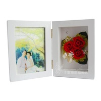 Preserved fresh flower photo frame fresh flowers 3 birthday christmas day gift 4