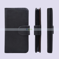 Litchi Book Wallet Leather Case for Samsung Galaxy Note 3 Neo N750 Wallet Case with Card Slot & Photo Frame 200pcs/Lot