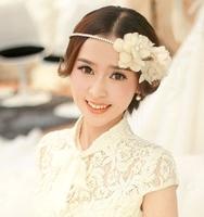 New 2014 Handmade Bridal Flower Tiara Hairband Rhinestone Wedding Hair Jewelry Accessories For Bride Hair Ornamentation WIGO0236