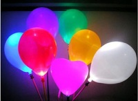 Free Shipping! Fashion New 100pieces/lot Wedding Birthday Party Christmas Holiday Gleamy Colorful Light Up LED Balloons