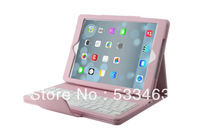 Newst removable wireless bluetooth case for ipad air 5,synthetic leather case and magnetically detachable keyboard Free Shipping