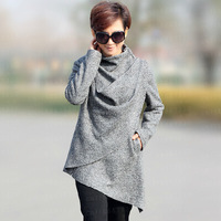 New 2014 The Spring And Autumn Personality Fashion Ladies Wool Coat Women Skinny Slimming Medium Style Female Coats