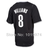 Deron Williams 2013 Christmas Day Jersey Black Color Size S-XXXL 8# Williams Man's Basketball Jersey 2013 Newest REV 30