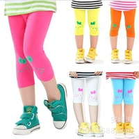 Free shipping! Children clothing wholesale girls leggings summer kids kitty leisure fashion shorts 5pcs/lot