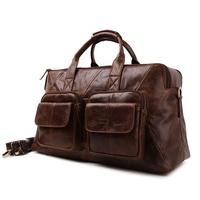 2014 New Vintage Style Brand Genuine Leather Travel Bags For Men Travel Sports Duffle Bag Handbag Shoulder Bag Messenger Bag